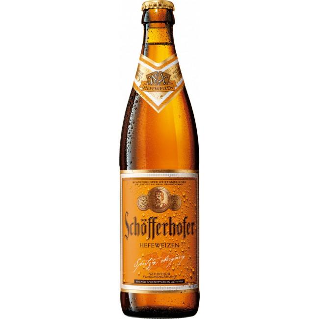 Пиво светлое Шофферхофер Хефевайзен пшеничное неосветлённое непастеризованное нефильтрованное
