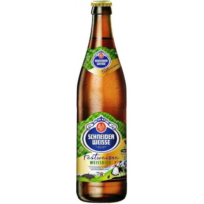 Пиво светлое нефильтрованное осветленное непастеризованное Шнайдер Вайсс ТАП 04 Майне ФестВайсс