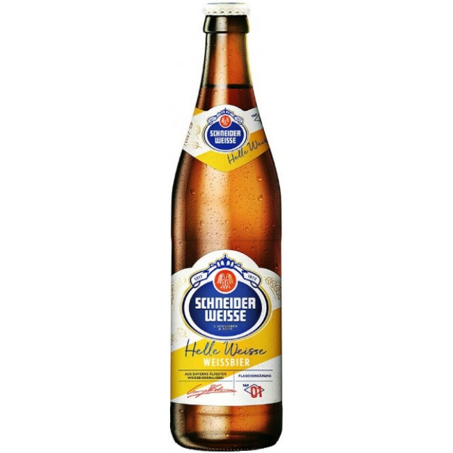 Пиво светлое нефильтрованное неосветленное непастеризованное Шнайдер Вайсс Хеле Вайсс Вайссбир ТАП 01