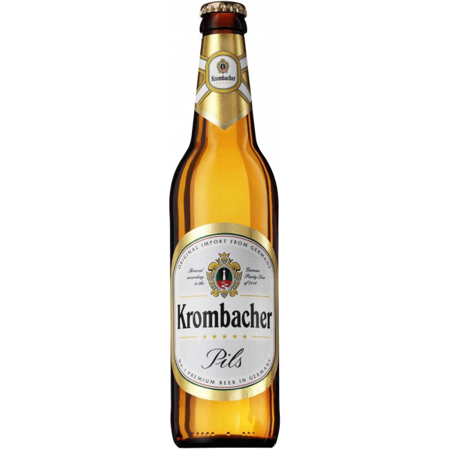 Пиво светлое пастеризованное фильтрованное Кромбахер Пильс бутылка