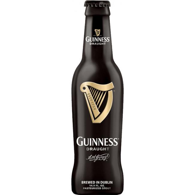Пиво тёмное фильтрованное пастеризованное Guinness Draught (Гиннесс Драфт) , алк. 4,2%, 0,33 л. ст.бут.