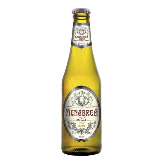 """Пиво светлое пастеризованное фильтрованное """"Менабреа ЛА 150° Бионда"""""""