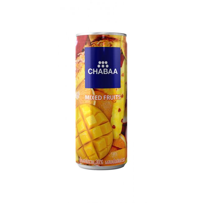 Напиток  мультифрукт с кусочками ананаса, ж/б CHABAA, 230мл