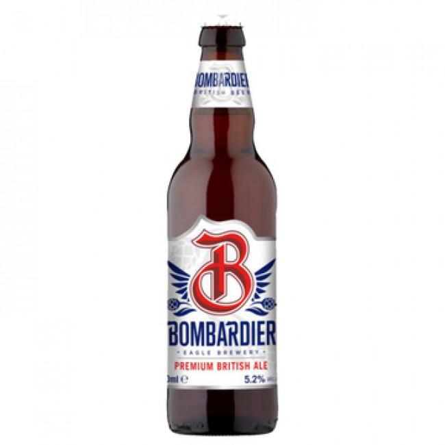 Пивной напиток Бомбардьер Премиум Бритиш Эль фильтрованный пастеризованный