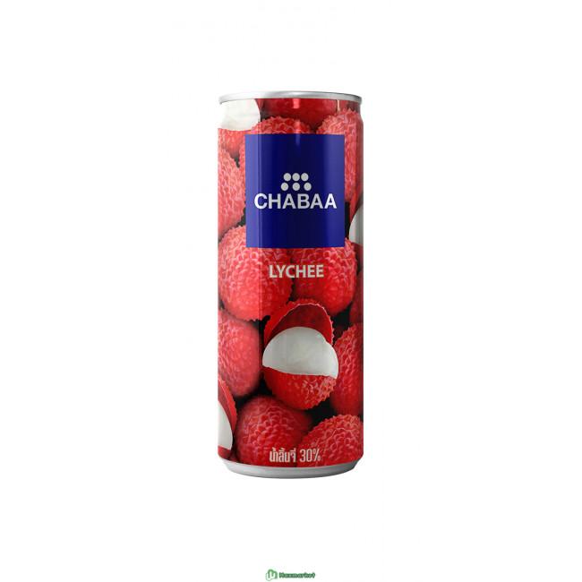 Напиток из сока личи с мякотью, ж/б CHABAA, 230мл