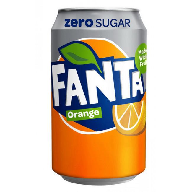 Напиток Fanta Апельсин ЗЕРО ж/б 0.33, Германия