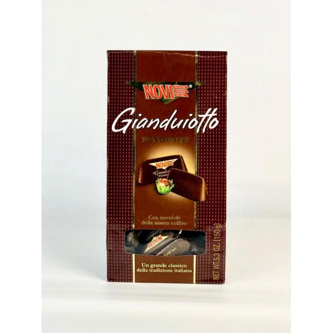"""Шоколад  молочный  из шок.пасты Джандуйя с ц.л.орехом  """"Novi"""" 24% конфеты"""