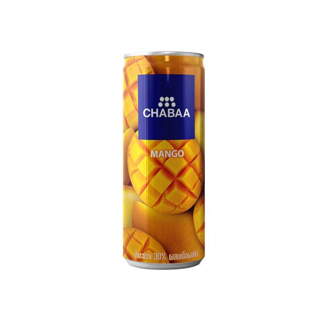 Напиток из сока манго с кусочками фруктов, ж/б CHABAA, 230мл