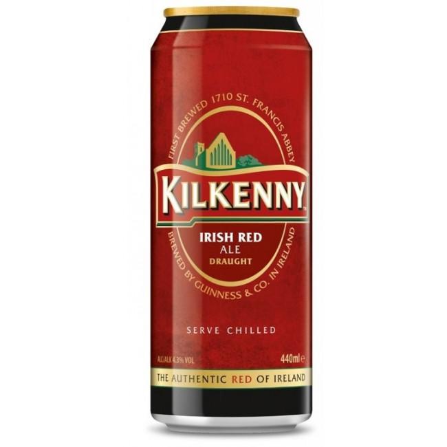 Пиво тёмное фильтрованное пастеризованное с капсулой азотной смеси Kilkenny Draught (Килкенни Драфт), алк. 4,3%, 0,44 л. ж.бан.