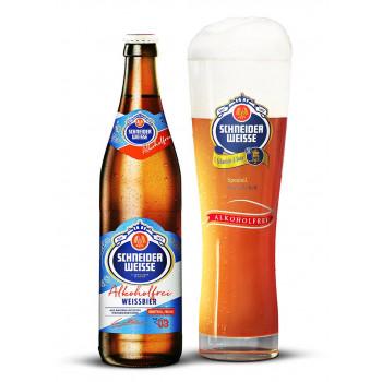 Пиво б/а св. не фильтр. Шнайдер Вайсс ТАП 03 Майн Алкохолфреис 0.5л, Германия