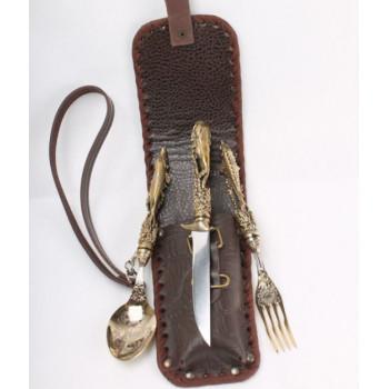 Набор рыбака. Нож, вилка, ложка