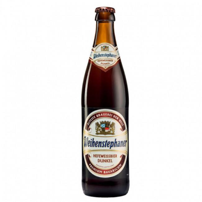 Пиво темное нефильтрованное непастеризованное Вайнштефан Хефевайсбир Дункель