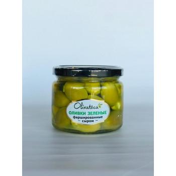 Оливки зеленые фаршированные сыром, 290/190г т.м.OLIVATECA Турция