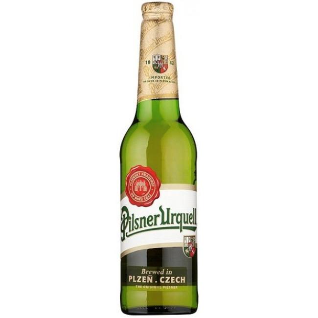 Пиво светлое фильтрованное пастеризованное Pilsner Urquell (Пилзнер Урквелл), алк. 4,4%, 0,5 л. ст.бут.