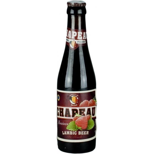 """Пиво """"Chapeau"""" Fraises Lambic, Клубника Ламбик 0,25 л"""