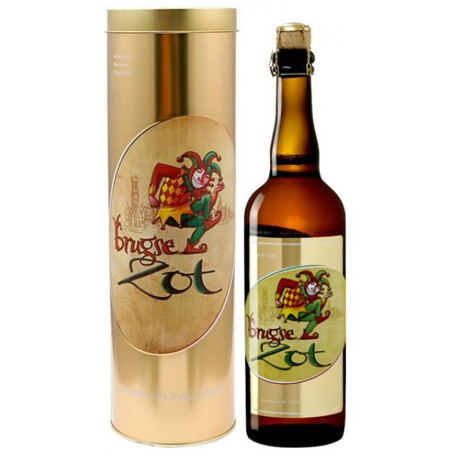 "Пиво ""Brugse Zot"" Blond, in metal tube, в метал. тубе 0.75 л"