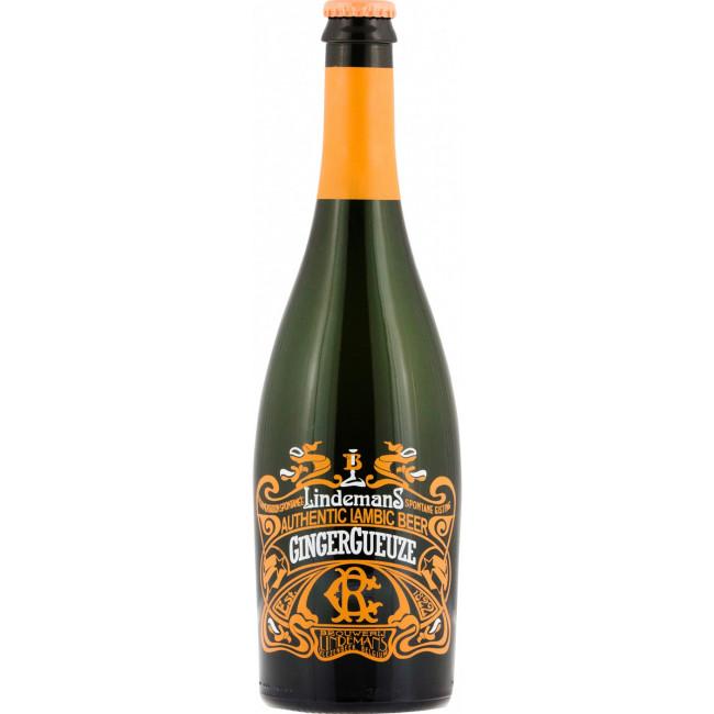 Пиво Lindemans GingerGueuze не пастеризованное осветлённое, 0.75л