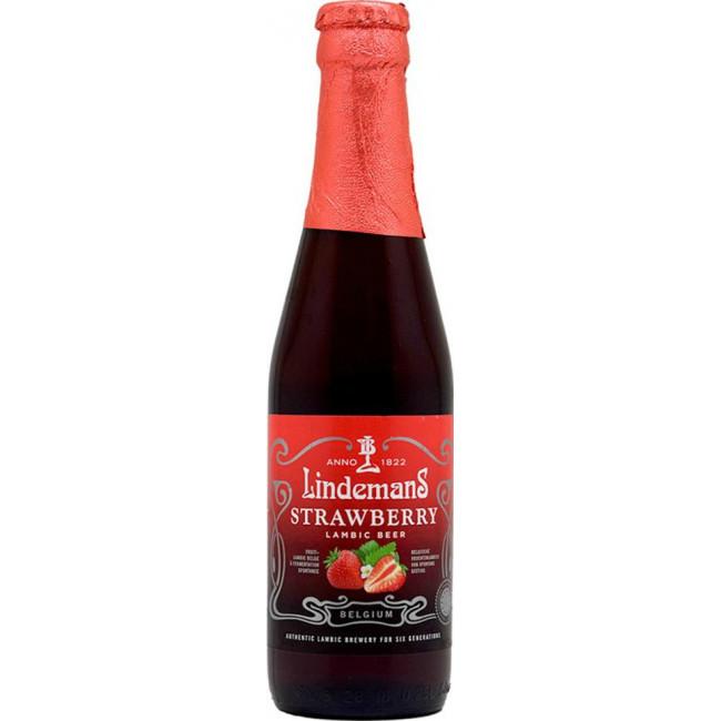 Пиво Lindemans Strawberry красное фруктовое, 0.25л