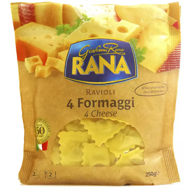 Равиоли Rana 4 сыра, 250 гр.