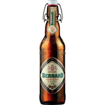 Пиво светлое непастеризованное нефильтрованное осветленное Бернард Сватечни Лежак бутылка