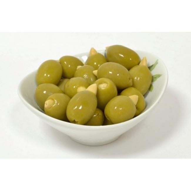 Оливки Зеленые фаршированные миндалем Deas SA, весовые