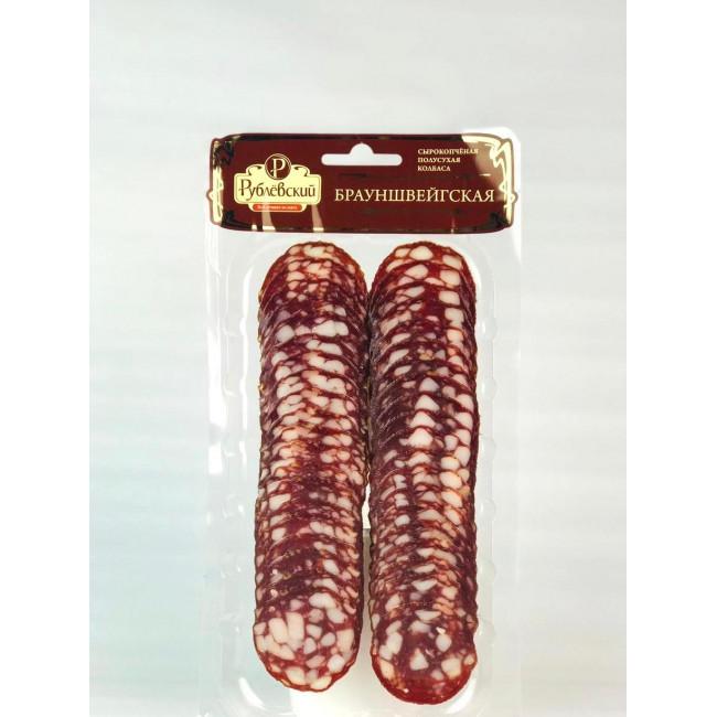 Колбаса Рублевский Брауншвейгская нарезка, 90 гр