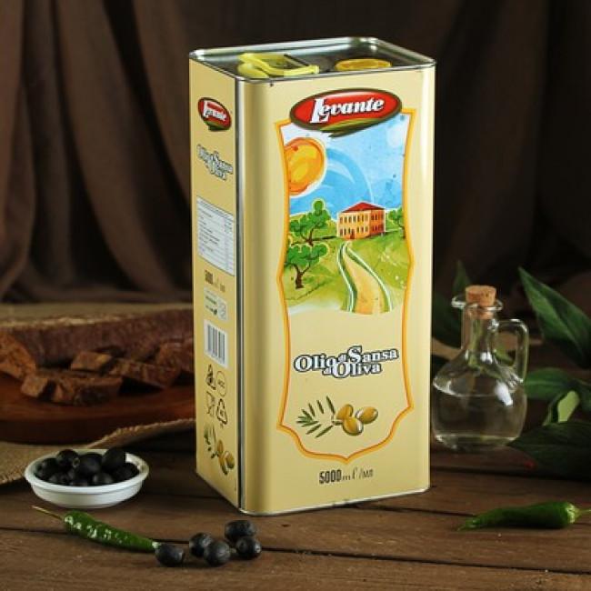 Масло оливковое рафинированное ж/б, Levante 5 л.