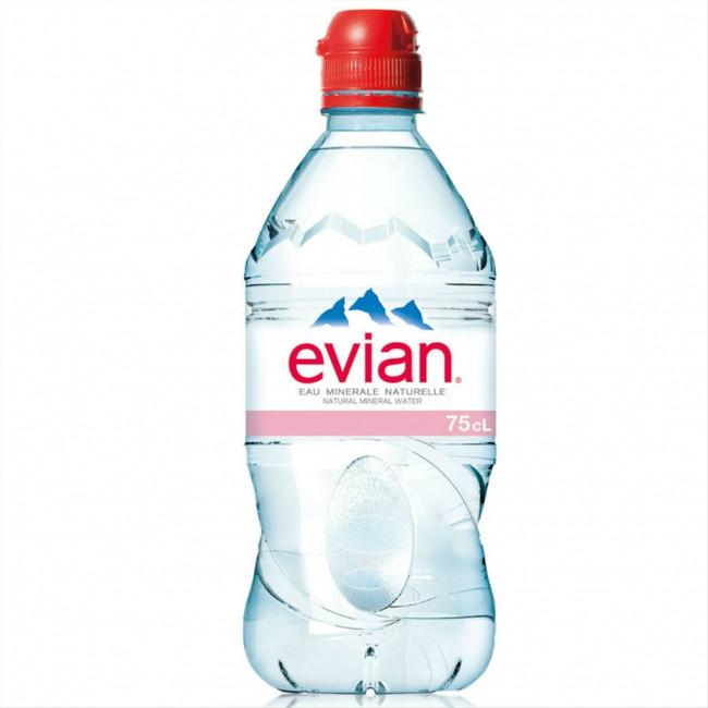 Вода мин. EVIAN ЭВИАН п/б, 0.75