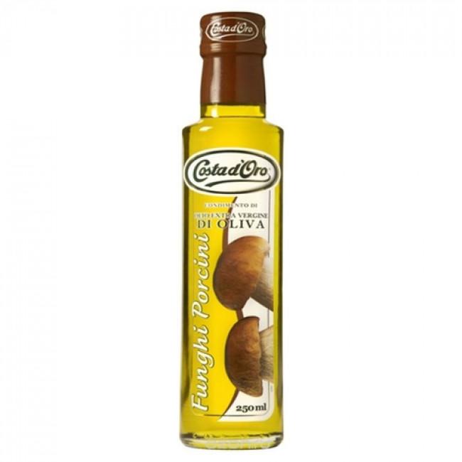 Масло оливковое нерафинированное со вкусом и ароматом белых грибов COSTA D`ORO 250 мл.