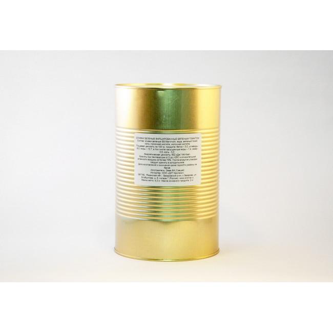 Оливки Зеленые фаршированные вяленым томатом Deas SA (весовые в ж/б) 2 кг