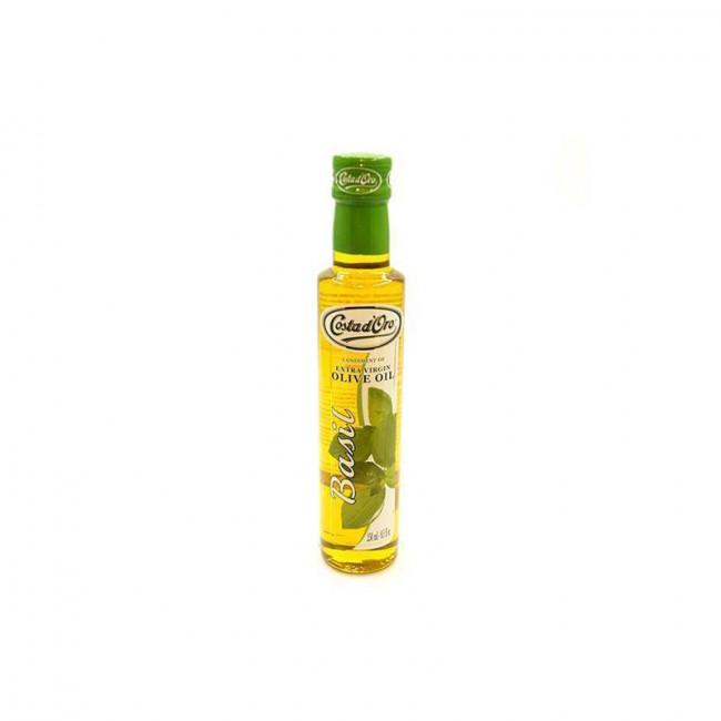 Масло оливковое нерафинированное со вкусом и ароматом базилика COSTA D`ORO 250 мл.