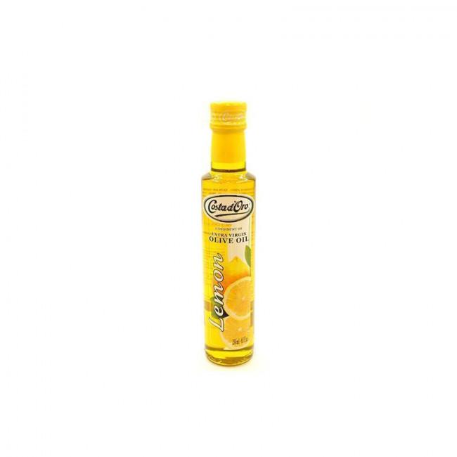 Масло оливковое нерафинированное со вкусом и ароматом лимона COSTA D`ORO 250 мл.