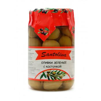 Оливки зеленые с косточкой  Santolivo 350г.
