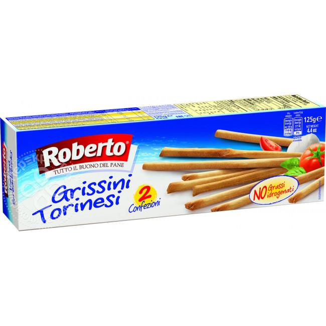 Палочки Хлебные Гриссини Торинези, 125 г, Roberto