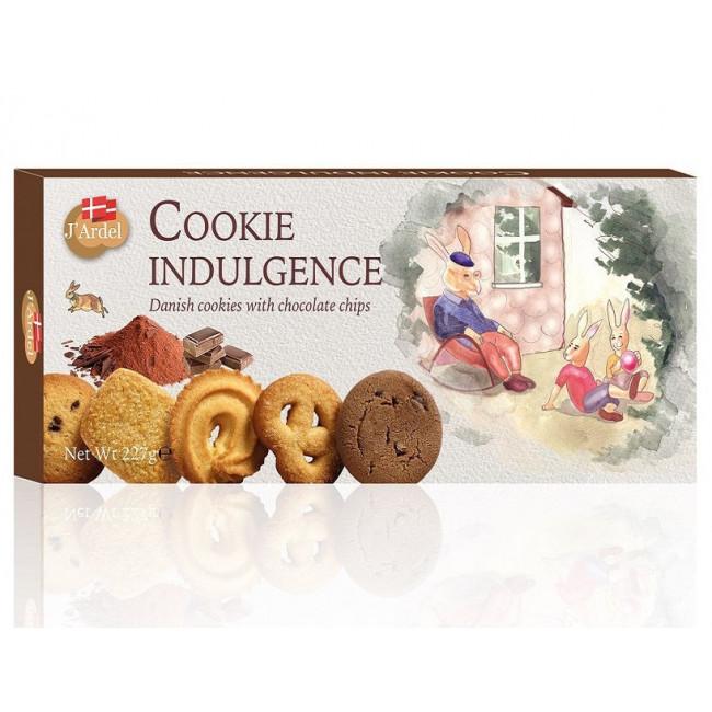 Ассорти датского сливочного и шоколадного печенья JARDEL, 227г.