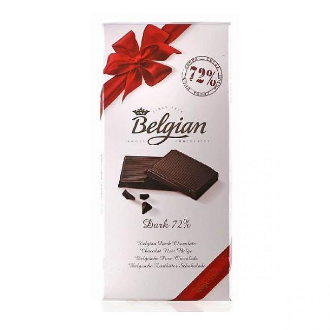 Бельгийский шоколад Belgian горький 72%, 100 гр.
