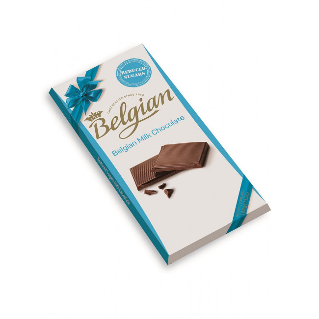 Бельгийский молочный шоколад Belgian без сахара, 100 гр.
