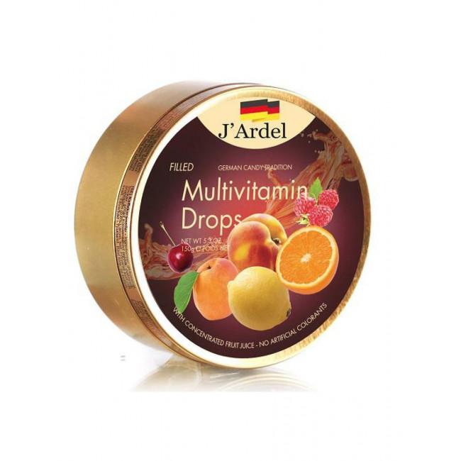 Леденцы J'Ardel Мультивитамин с фруктовой начинкой, 150 гр.