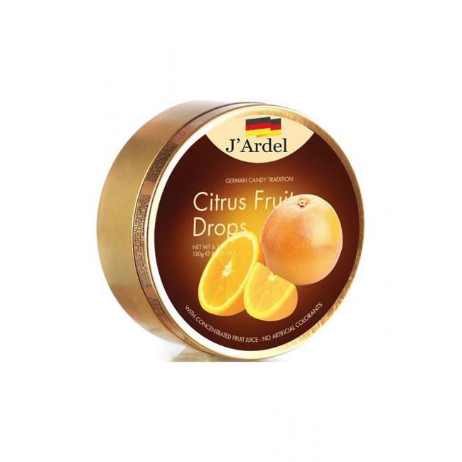 Леденцы J'Ardel со вкусом вкусом цитрусовых фруктов, 180 гр