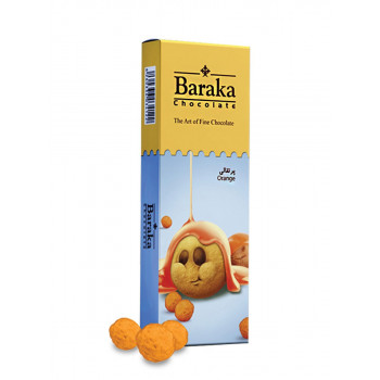Бисквитные шарики Baraka в молочном шоколаде c апельсиновым вкусом, 100 гр.