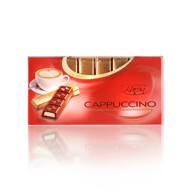 Молочный шоколад Baron с начинкой Капучино, 100 гр.