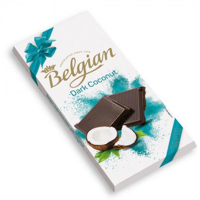 Молочный шоколад Belgian с кокосовой стружкой, 100 гр.