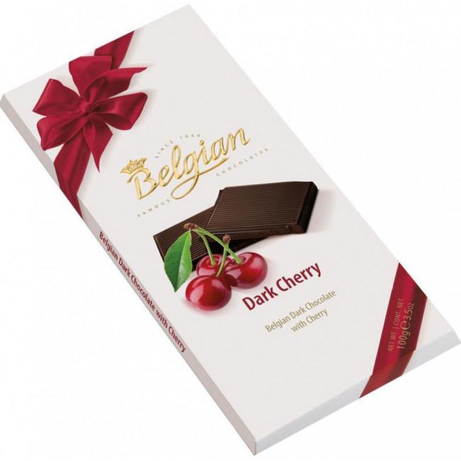 Молочный шоколад Belgian со вкусом вишни, 100 гр