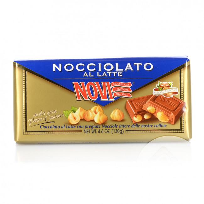 Шоколад молочный Novi с лесными орехами, 130 гр