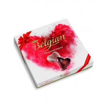 """Шоколадные конфеты Belgian """"Сердечки"""" пралине, 200 гр"""