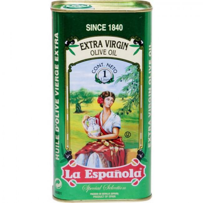 Масло оливковое нерафинированное высшего качества Extra Virgin  ж/б  La Espanola 1Л