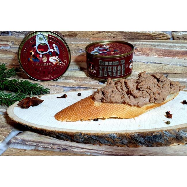 """Паштет из утиной печени """"Высокая кухня европейских монархов"""",200 г, Деликатес Дичь"""