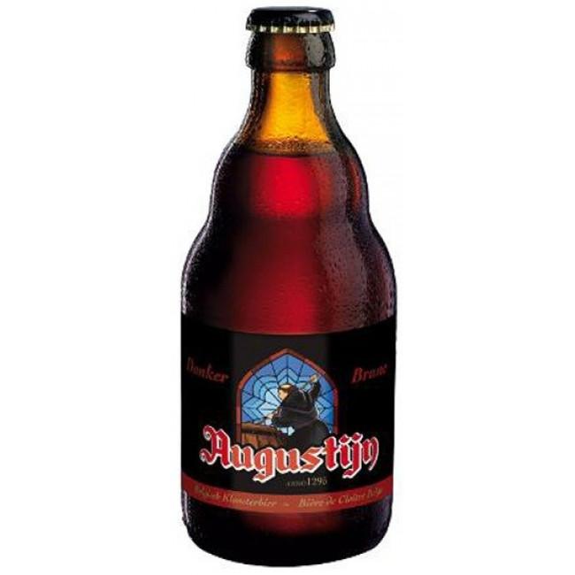 """Пиво """"Augustijn"""" Brune, коричневое фильтрованное, 0.33 л"""