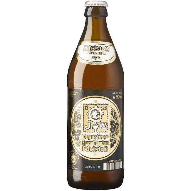 Пиво Augustiner Edelstoff Светлое фильтрованное алк. 5,6%, 0.5 л