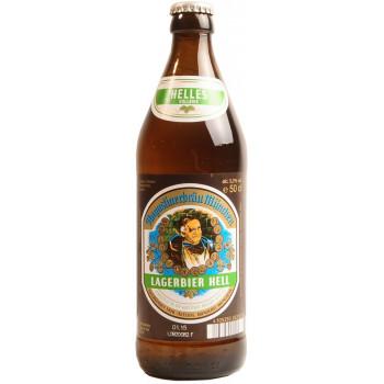 Пиво Augustiner Lagerbier Hell Светлое фильтрованное алк. 5,2%, 0.5 л